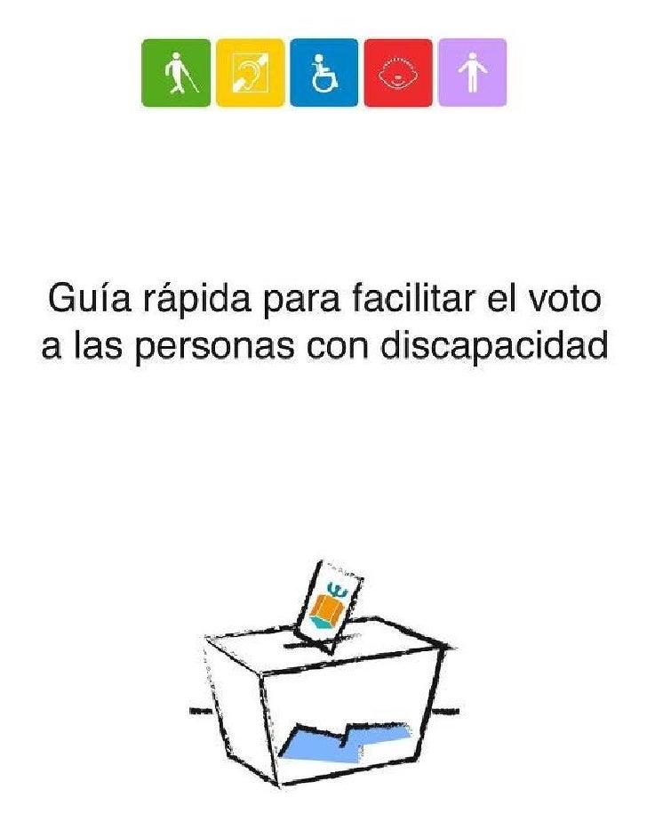 Guía rápida para facilitar el voto de las personas con discapacidad