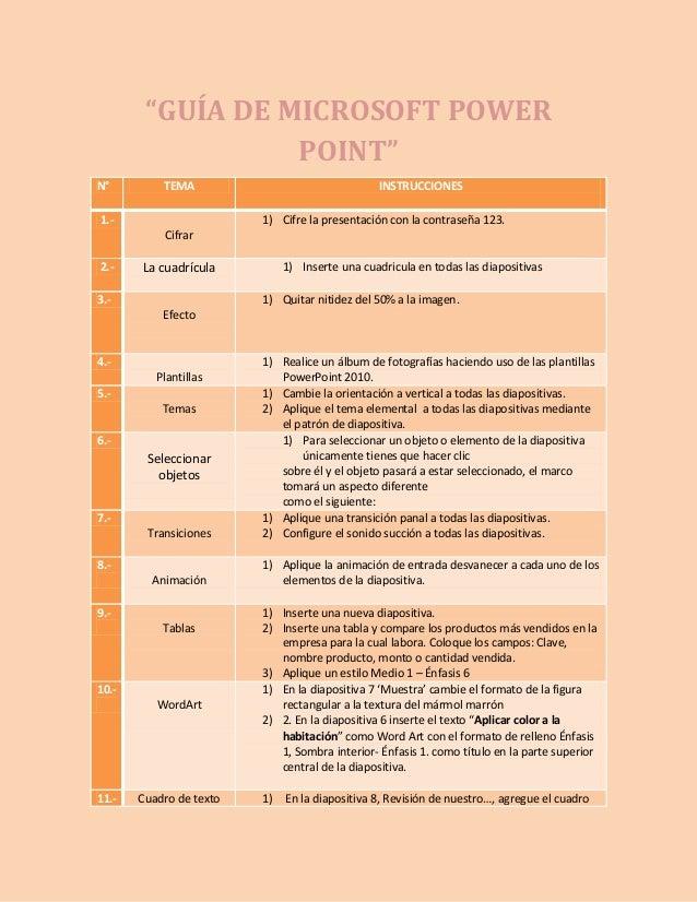 Guías power point