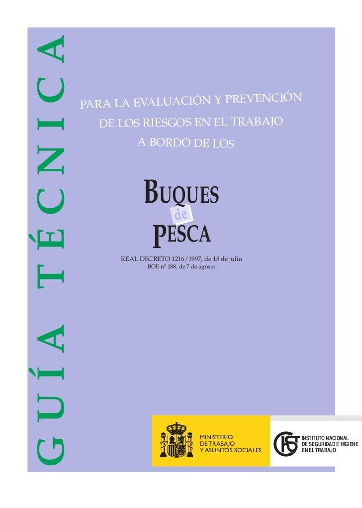 Guía técnica ev. y prev. a bordo de buques rd 1216 1997 (insht)