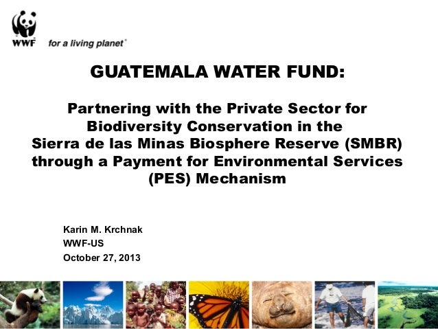 GUATEMALA WATER FUND: Partnering with the Private Sector for Biodiversity Conservation in the Sierra de las Minas Biospher...