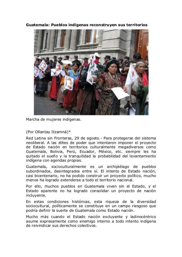 Guatemala: Pueblos indígenas reconstruyen sus territorios Marcha de mujeres indígenas. (Por Ollantay Itzamná)* Red Latina ...