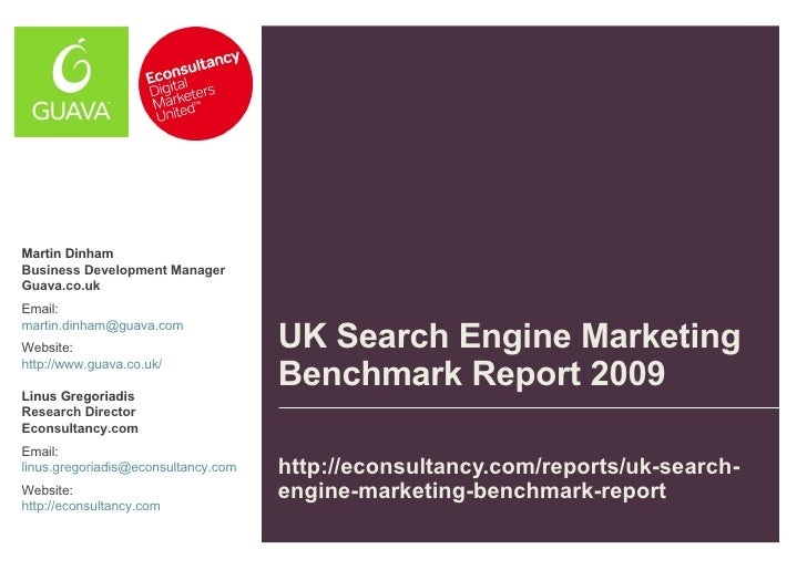 UK Search Engine Benchmark Report 2009