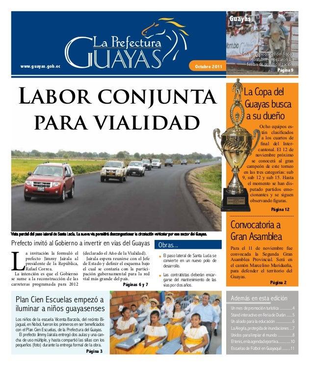 Periódico digital de la Prefectura del Guayas - Octubre 2011