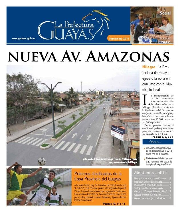 Septiembre 2011 nueva Av. Amazonas www.guayas.gob.ec Social Brigadas médicas atendieron a 128 chicos del centro sale- sian...