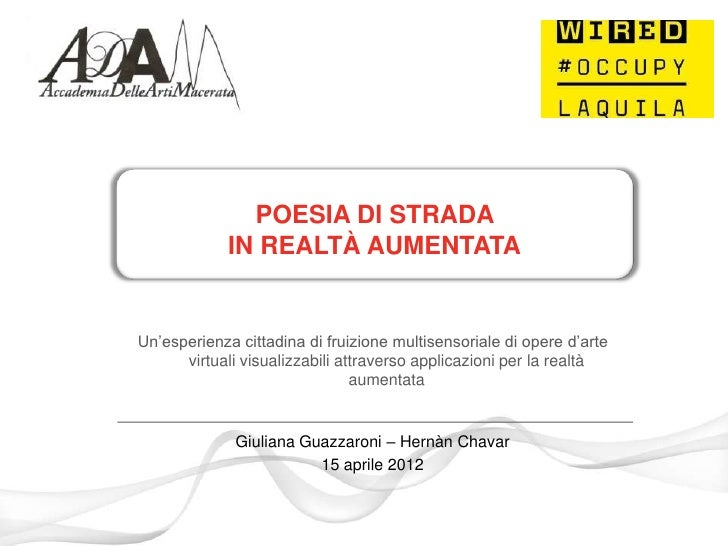 Poesia di Strada in Augmented Reality a L'Aquila