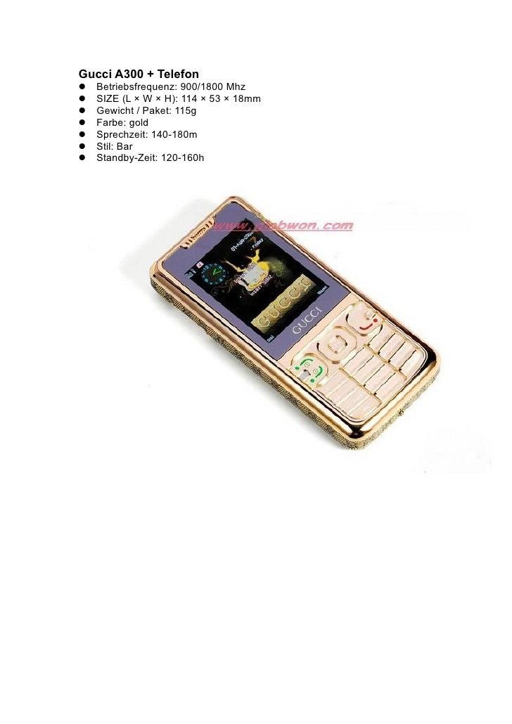 Gucci A300 + Telefon Betriebsfrequenz: 900/1800 Mhz SIZE (L × W × H): 114 × 53 × 18mm Gewicht / Paket: 115g Farbe:...