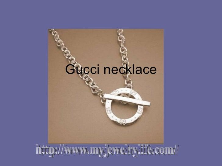 Gucci necklace http://www.myjewelrylife.com/