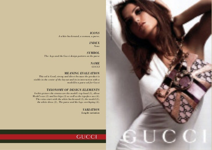 an analysis of the ad for gucci apparel and accessories