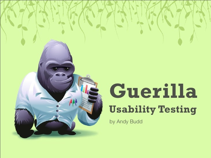 Guerilla Usability Testing by Andy Budd