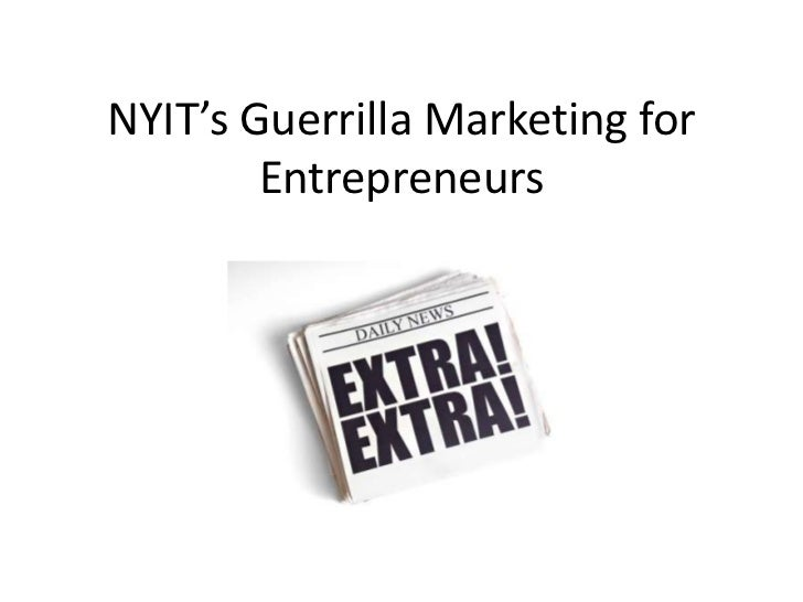 NYIT's Guerrilla Marketing for Entrepreneurs