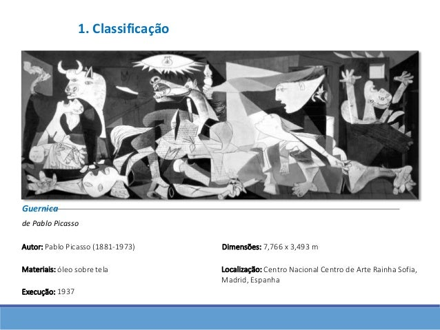 picassos guernica notes A note to educators  artist's work/artist's voice: picasso features pablo  picasso's painting,  ask your students to take a moment to look at guernica.