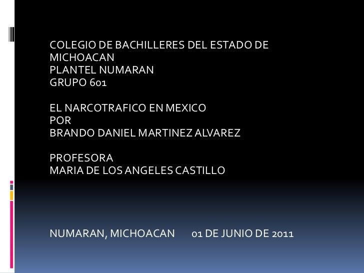 Guerra contra el narcotráfico en mexico
