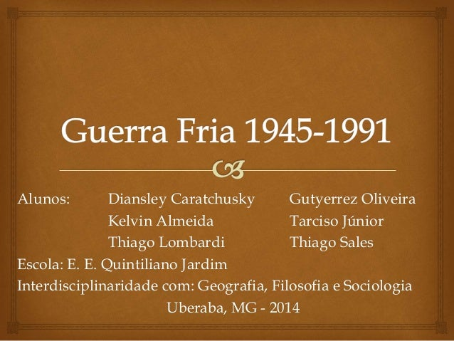 Alunos: Diansley Caratchusky Gutyerrez Oliveira  Kelvin Almeida Tarciso Júnior  Thiago Lombardi Thiago Sales  Escola: E. E...