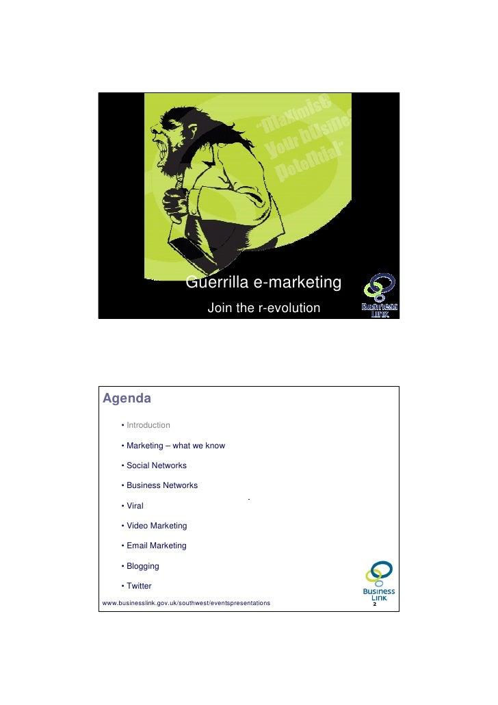 Guerrilla marketing - Gloucester2010-v1 1