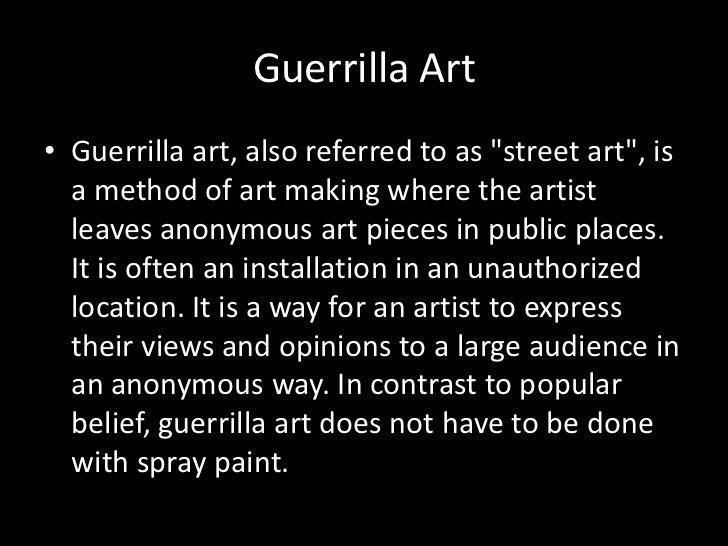 Christo and Guerrilla art