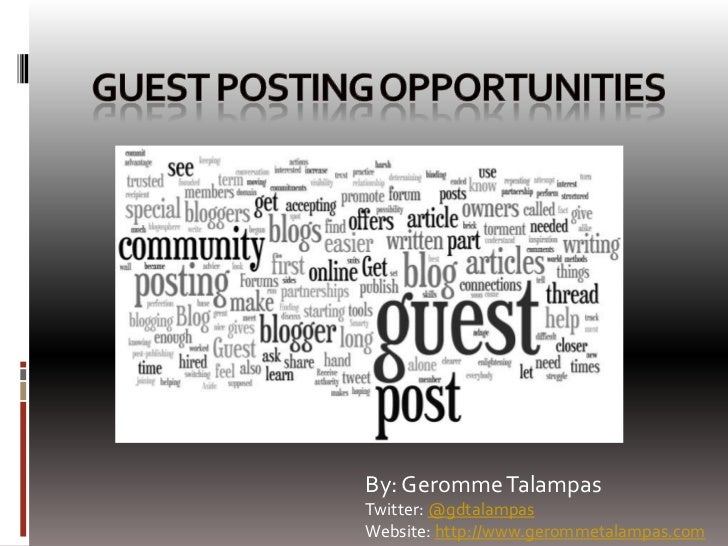Guest Posting Opportunities and Resources