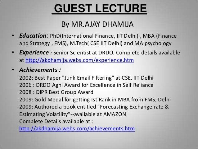 Guest talk