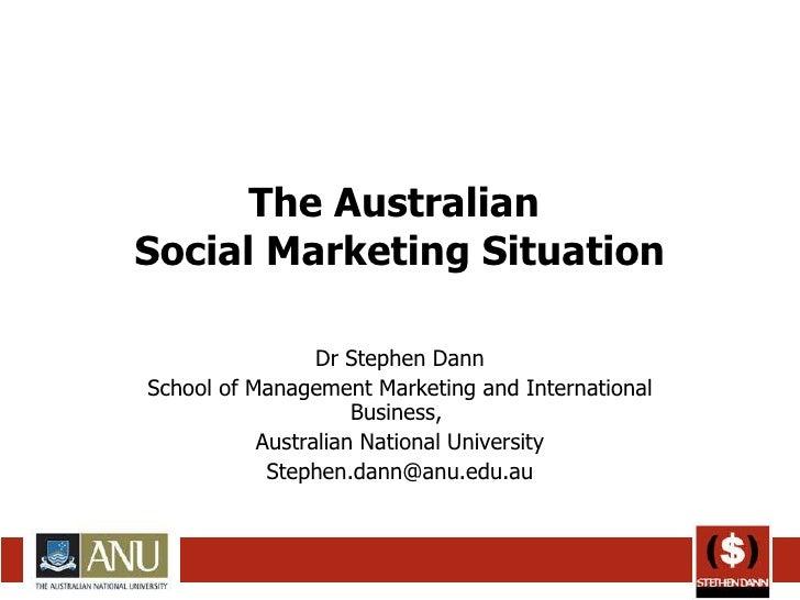 The Australian Social Marketing Situation