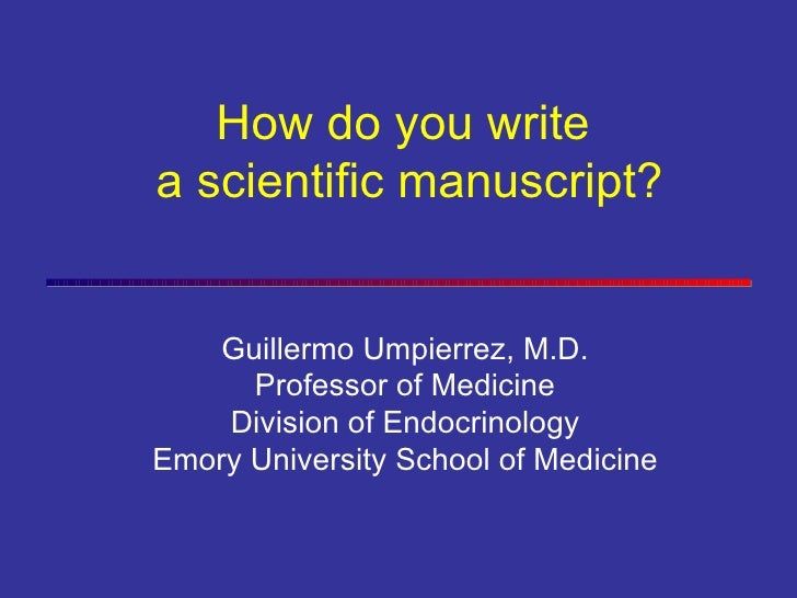 Guillermo Umpierrez, M.D. Professor of Medicine Division of Endocrinology Emory University School of Medicine How do you w...