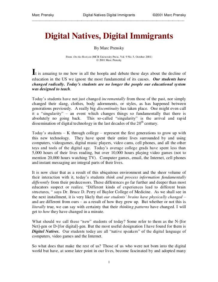 Guhsd digital natives