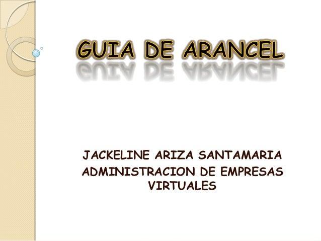 JACKELINE ARIZA SANTAMARIA ADMINISTRACION DE EMPRESAS VIRTUALES