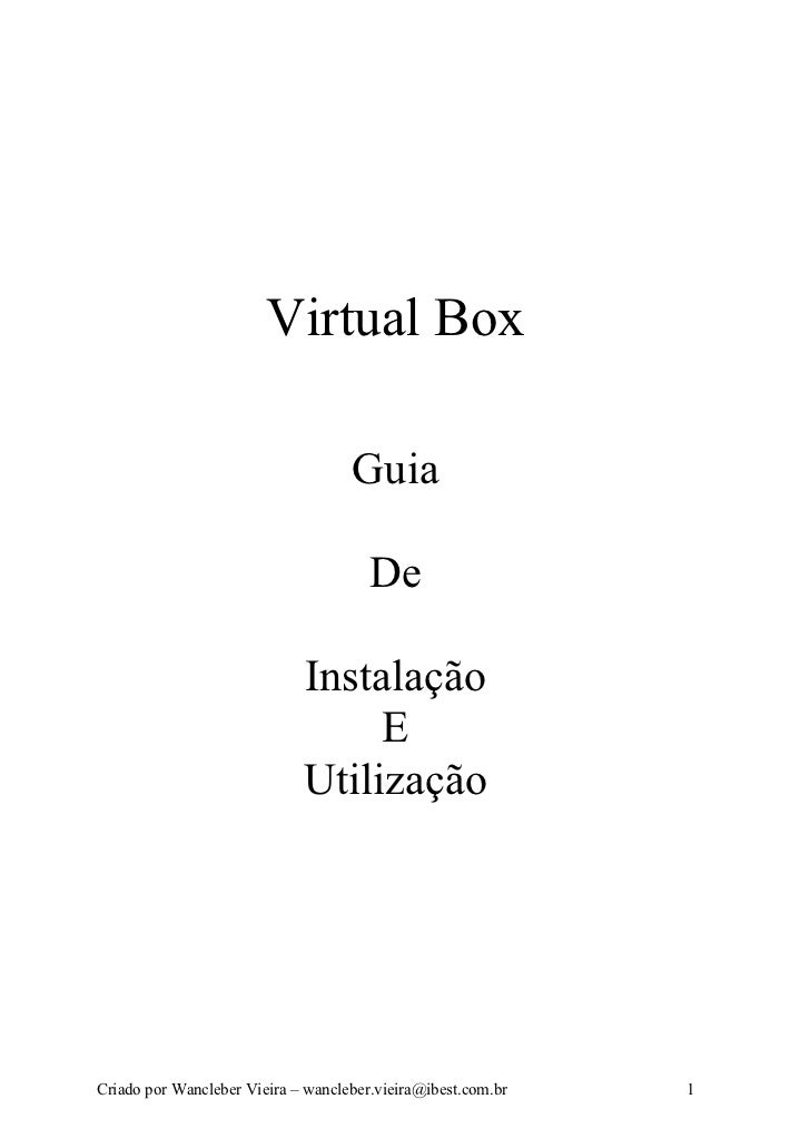 Virtual Box                                      Guia                                         De                          ...