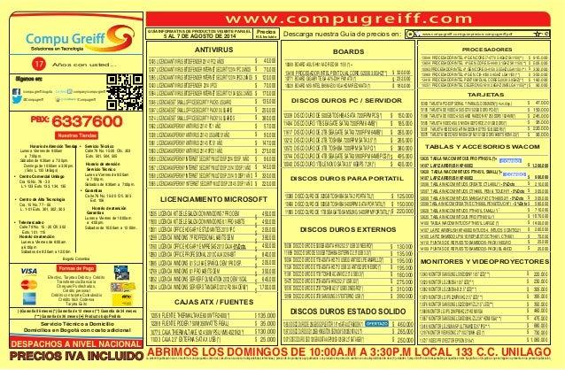Guia de-precios-compugreiff-agosto-05-al-07-2014