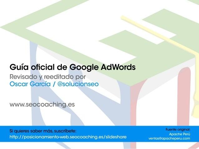 Guía oficial de Google AdWords