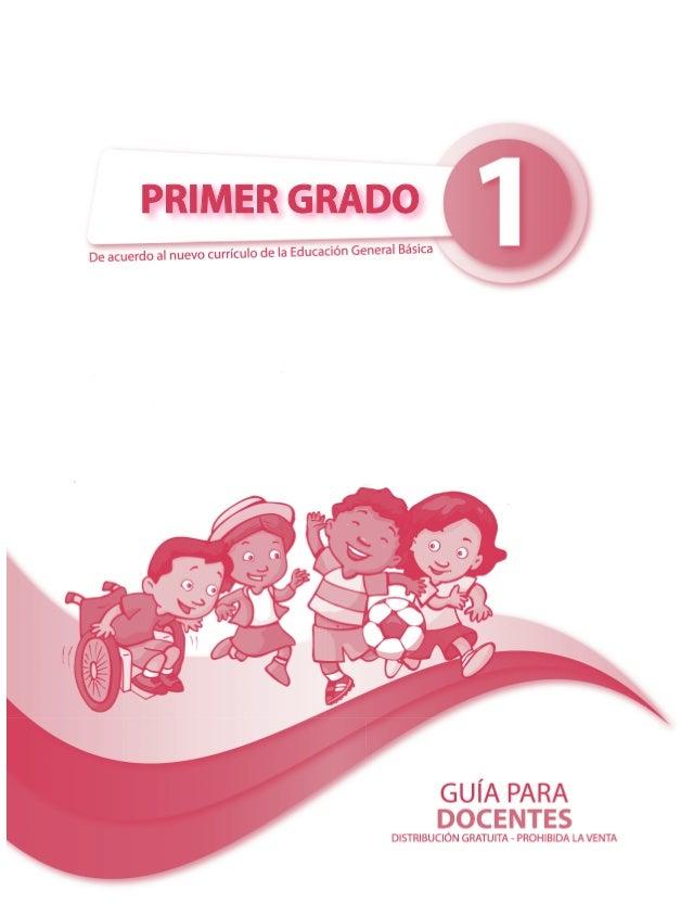 Guía del docente PRIMER GRADO