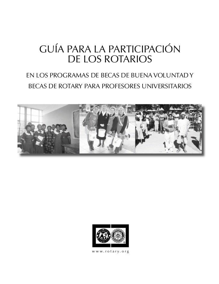 Guia Para La Participacion De Los Trotarios En Las Becas De Buena Voluntad 012sp