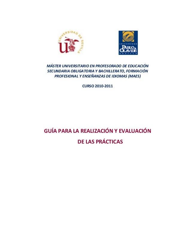 MÁSTER UNIVERSITARIO EN PROFESORADO DE EDUCACIÓN SECUNDARIA OBLIGATORIA Y BACHILLERATO, FORMACIÓN PROFESIONAL Y ENSEÑANZAS...