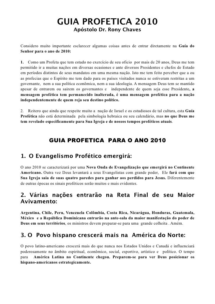 GUIA PROFETICA 2010                                                                               ...