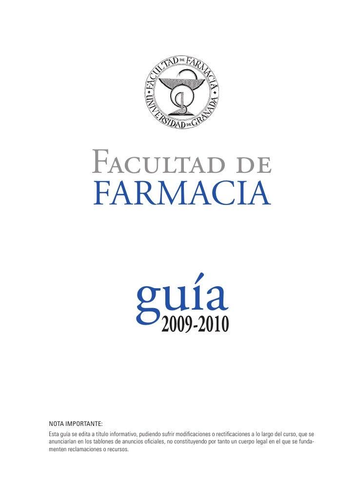 Facultad de                   FARMACIA                                        guía                                        ...