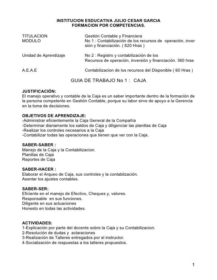 INSTITUCION ESDUCATIVA JULIO CESAR GARCIA                          FORMACION POR COMPETENCIAS.  TITULACION                ...