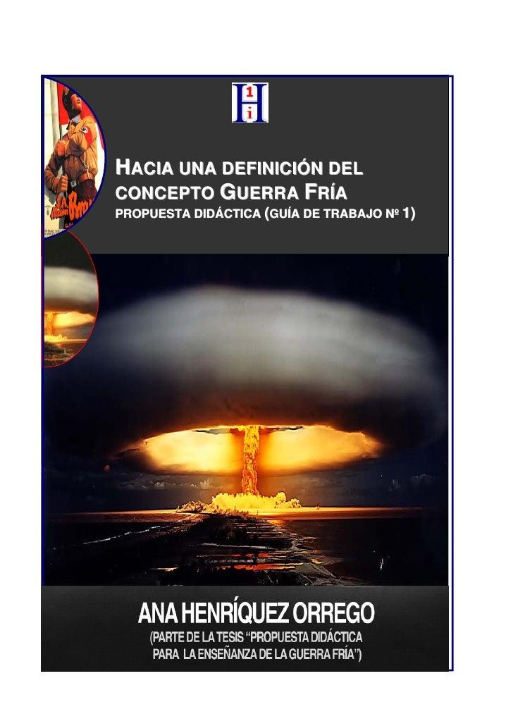Guia 1:  concepto guerra fria