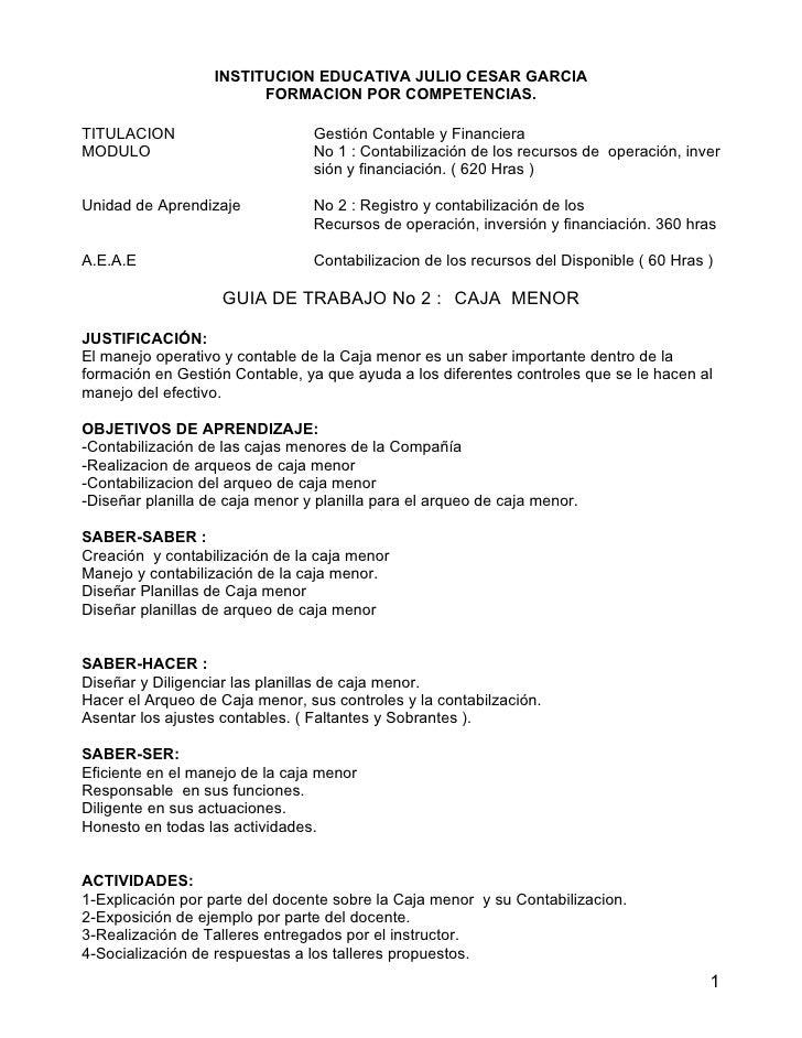 INSTITUCION EDUCATIVA JULIO CESAR GARCIA                          FORMACION POR COMPETENCIAS.  TITULACION                 ...