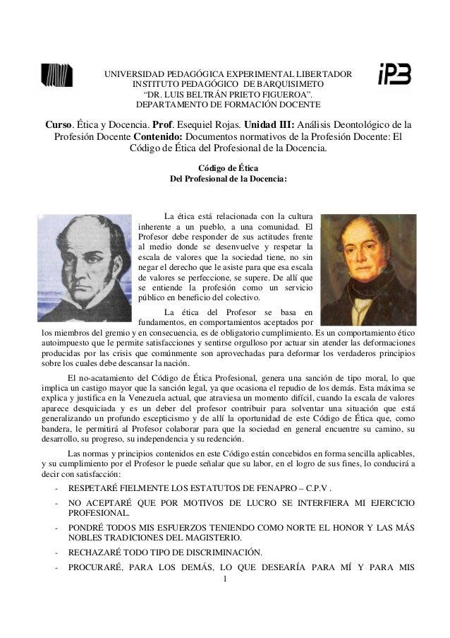 UNIVERSIDAD PEDAGÓGICA EXPERIMENTAL LIBERTADOR                      INSTITUTO PEDAGÓGICO DE BARQUISIMETO                  ...