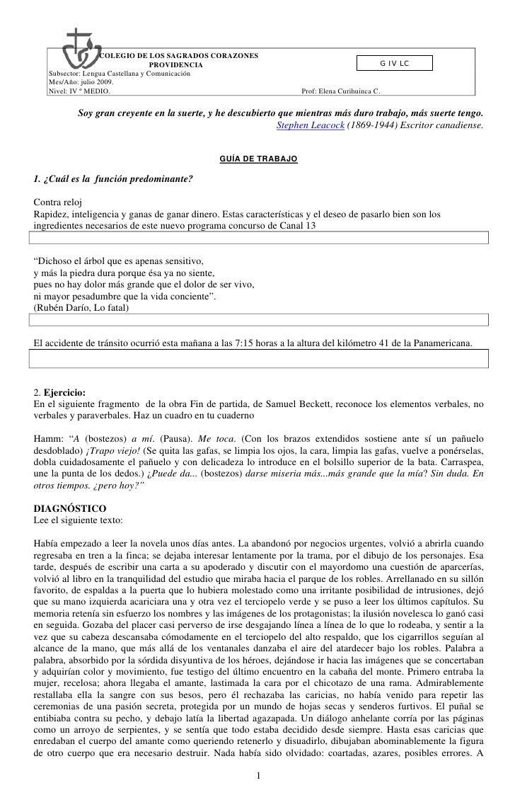 COLEGIO DE LOS SAGRADOS CORAZONES                                    PROVIDENCIA                                          ...