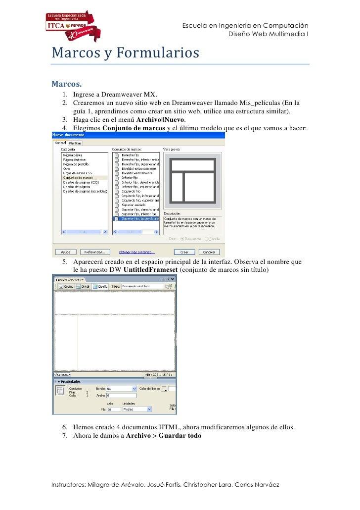 Escuela en Ingeniería en Computación                                                            Diseño Web Multimedia I   ...