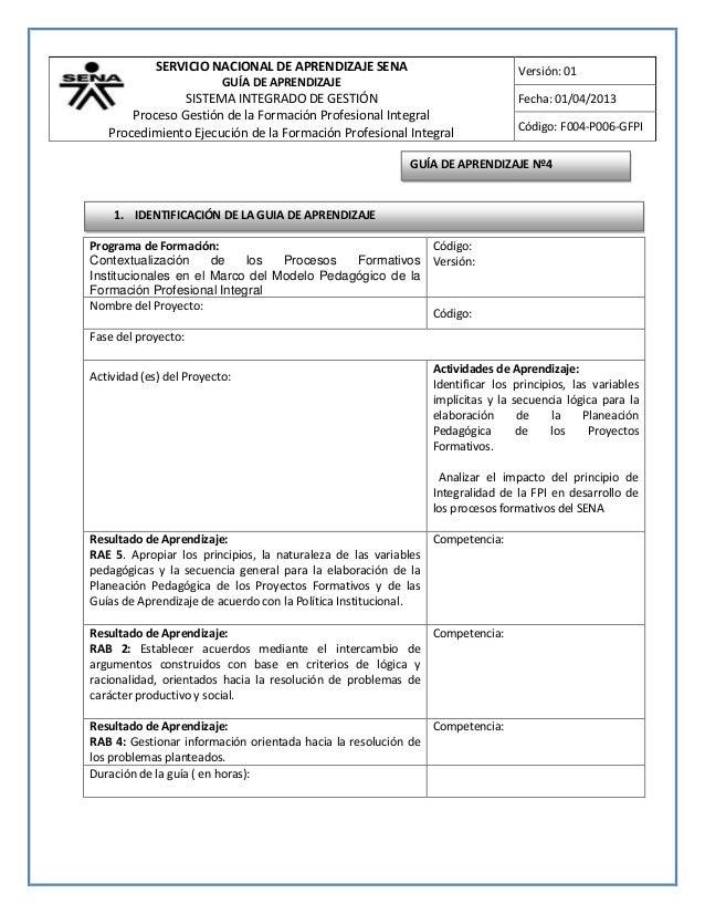 SERVICIO NACIONAL DE APRENDIZAJE SENA                             Versión: 01                          GUÍA DE APRENDIZAJE...
