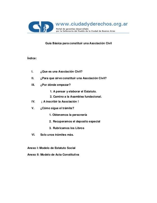 Guia asociacion civil