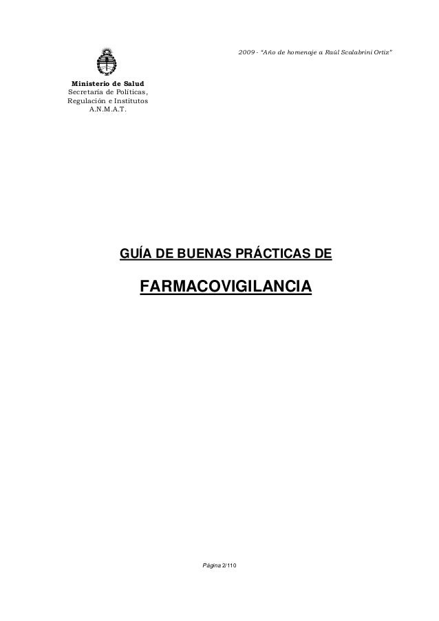 "2009 - ""Año de homenaje a Raúl Scalabrini Ortiz"" Ministerio de SaludSecretaría de Políticas,Regulación e Institutos      A..."