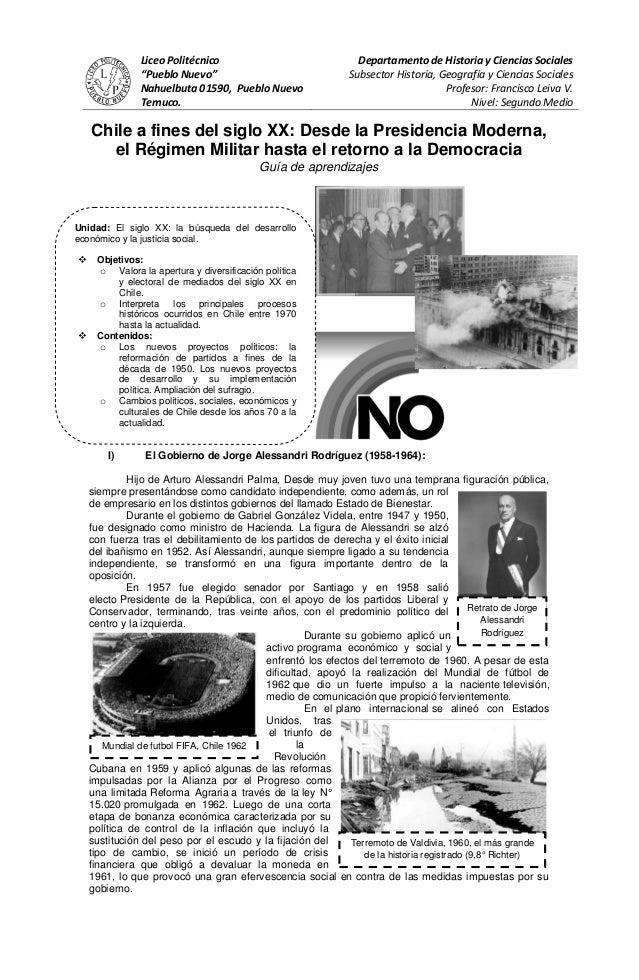 """Liceo Politécnico                                Departamento de Historia y Ciencias Sociales               """"Pueblo Nuevo""""..."""