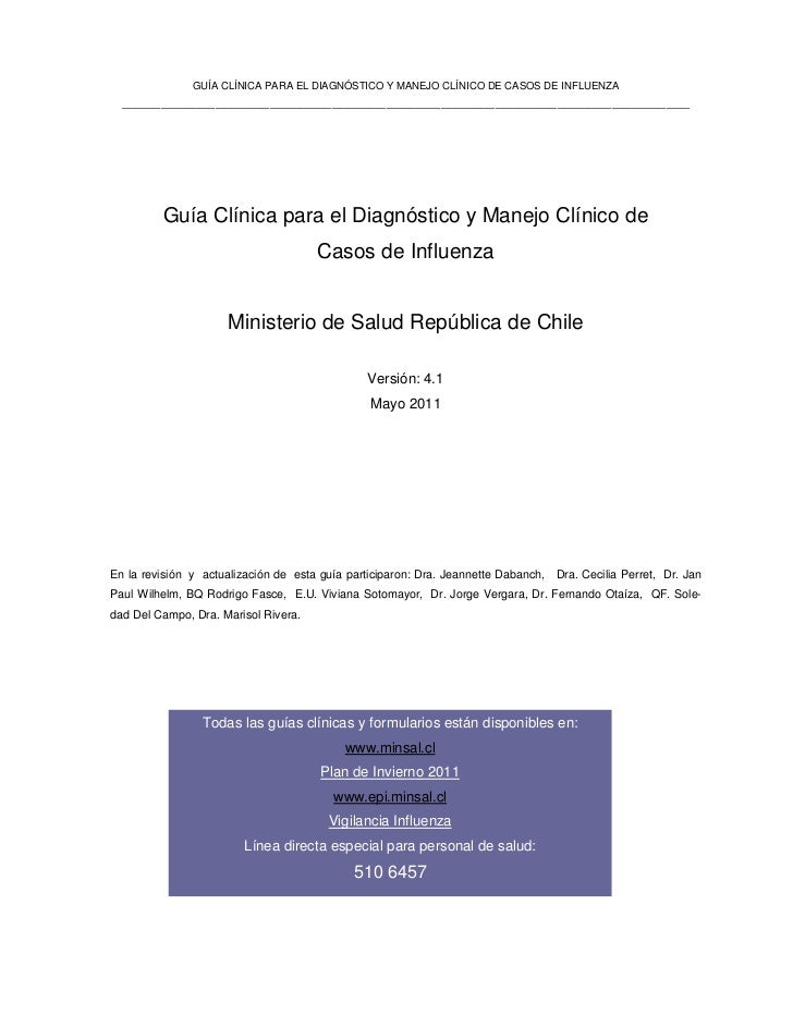 Guia clinica influenza 2011