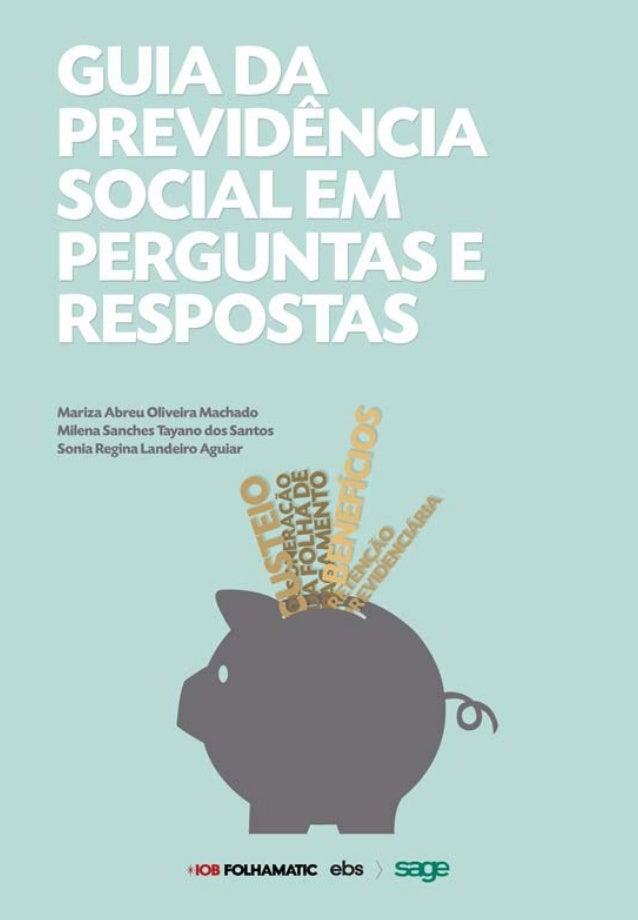 Guia da Previdência Social em Perguntas e Respostas - IOB e-Store
