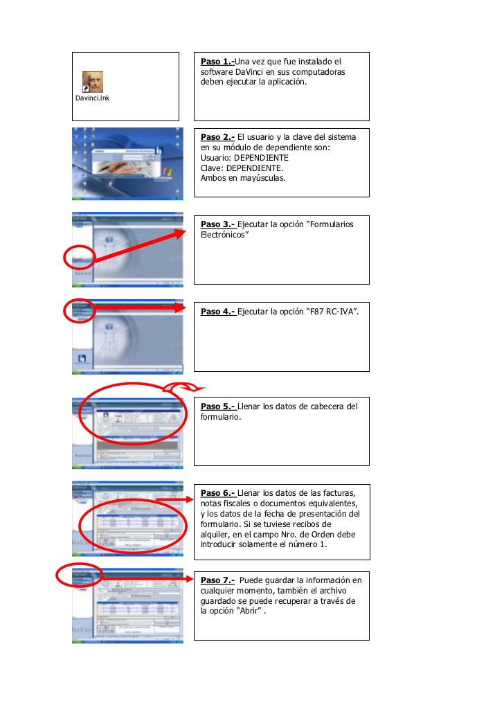 Guia davinci dependientes formulario 110