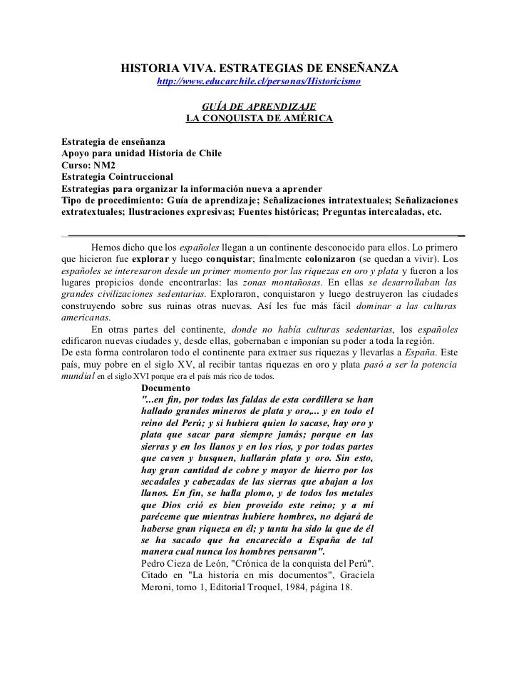 HISTORIA VIVA. ESTRATEGIAS DE ENSEÑANZA                       http://www.educarchile.cl/personas/Historicismo             ...