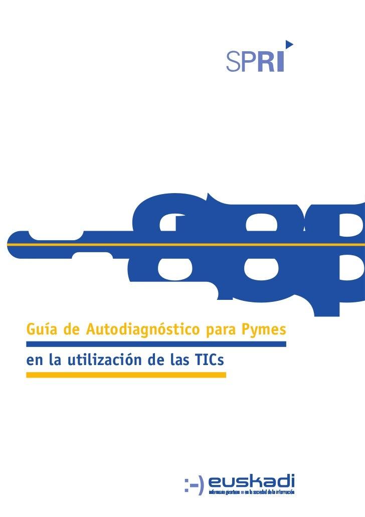 Guía de auto diagnostico para pyme en la utilización de las TIC