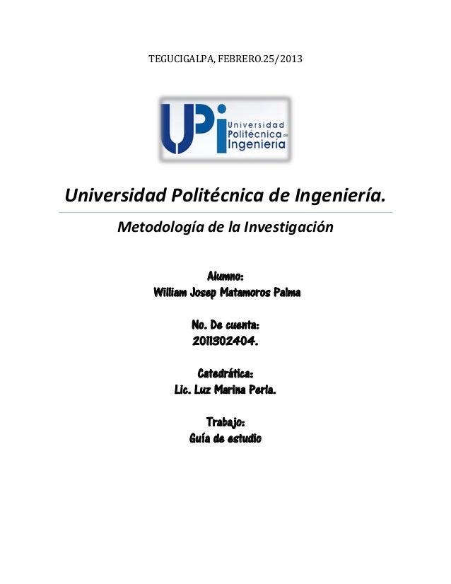 Guia de estudio Metolodologia de investigacion