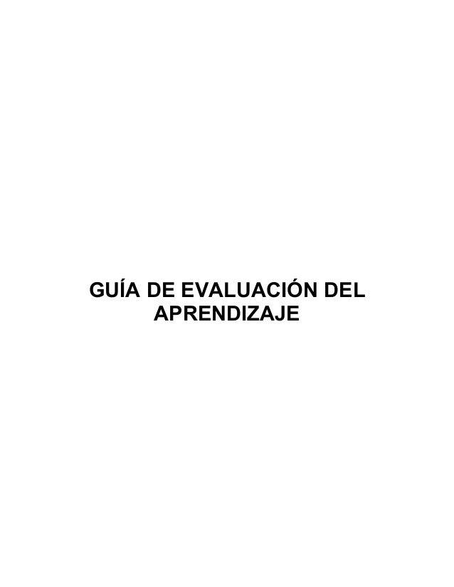 Guia de evaluacion de los aprendizajes